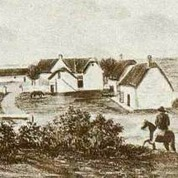 Poorteman's sketch circa 1840. Berg River Farm, as it was then known, was already famous for its horse stud.