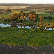 Another aerial view of the farm.