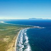 The endless beaches of the Cape West Coast with Table Mountain on the horizon.